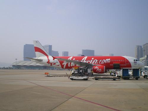 AirAsia Plane in Macao