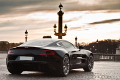 Aston Martin One-77 (Bethove) Tags: sky orange black paris english cars car st speed de one 1 la dubai noir place martin pointer d voiture ciel concorde laser 500 1855 18 55 leonard 77 lonard aston spotting sighting 177 faubourg anglais qtar 500d coste golfe duba honor conon bethove one77 boncenne