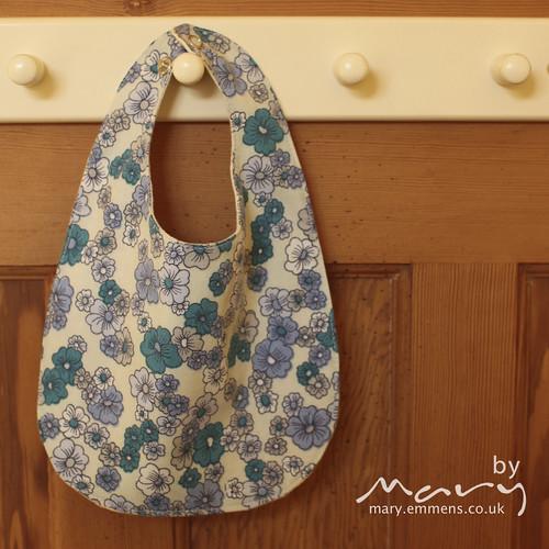 Vintage blue floral bib