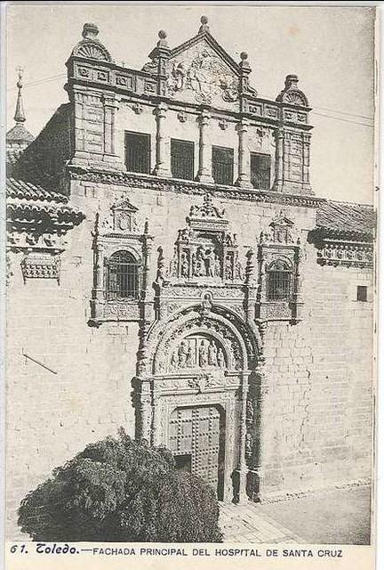 Hospital de Santa Cruz hacia 1900. Foto Lacoste