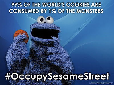Occupy Sesame Street: Cookie Monster as the 1%
