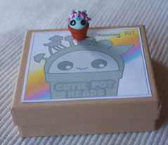 Miniature Cutie Pot Head Growing Kit For Adults of Children (Strawberry Anarchy) Tags: plant cute children fun for day head unique glue magic super bean pot card clay rainy gift kawaii heads pothead kit growing dust polymer