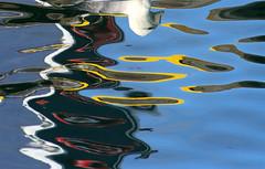 Reflection in Djúpivogur (thorrisig) Tags: ocean blue white color colour reflection nature water birds animals iceland list abstraction colos ísland náttúra þorri thorri gulur hvítur blátt dorres speglun höfn litir djúpivogur fuglar hafnir blár listaverk sigurgeirsson endurkast þorfinnur thorfinnur thorrisig þorrisig thorfinnursigurgeirsson þorfinnursigurgeirsson