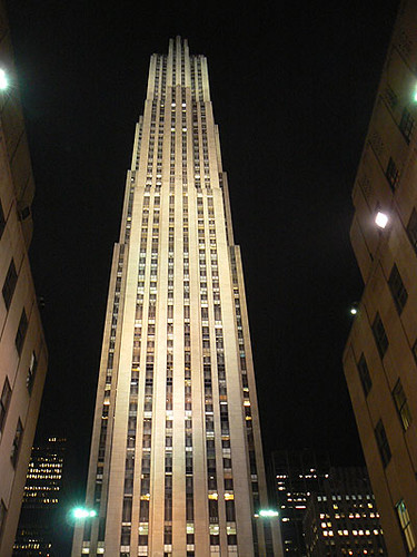 GE Building at night.jpg