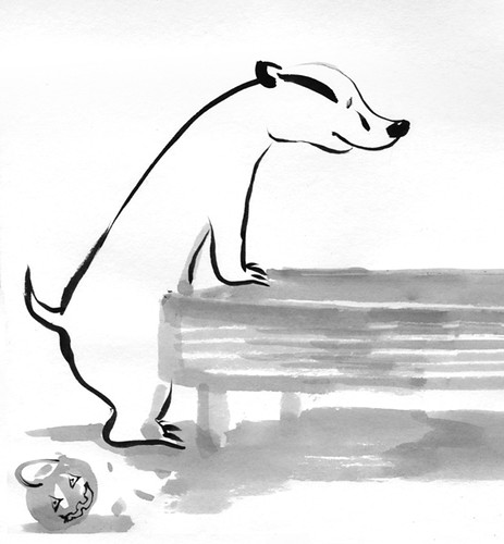 Badger Log by apple-pine