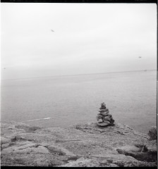 Cairn à la Pointe du Raz