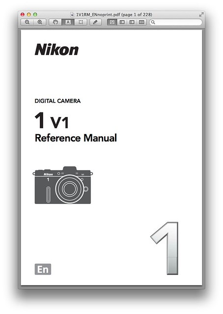 Nikon V1 Manual