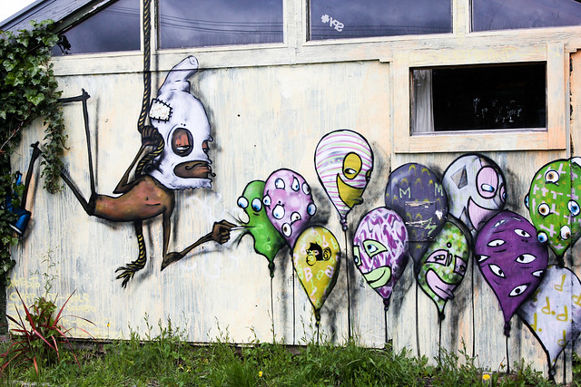 Art/graffiti in Ohakune