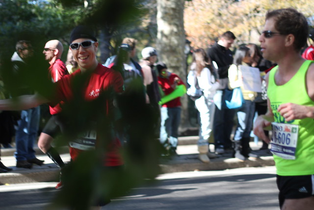 Mike at mile 25 in Central Park