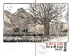Murianette : l'arbre et la dent (emdé) Tags: voyage travel urban de sketch diary croquis carnet emdé voyagitudes