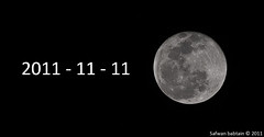 Moon in 11/11/2011| [Explore] (Safwan Babtain -  ) Tags: moon deleteme by explore 111 111111 safwan 1111111111  babtain  11112011   safwam