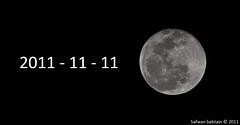 Moon in 11/11/2011| [Explore] (Safwan Babtain - صفوان بابطين) Tags: moon deleteme by explore 111 111111 safwan 1111111111 قمر babtain صفوان 11112011 بابطين صقوان safwam