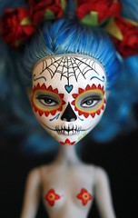 Monster High Calavera (Kittytoes) Tags: dayofthedead skull doll sugar diadelosmuertos custom mattel calavera explored melancholykitties yelps ghoulia monsterhigh
