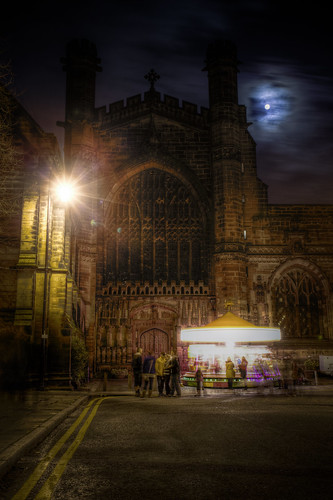 829/1000 - Moonlight Chester Cathedral by Mark Carline