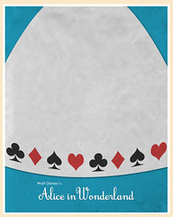 Alice in Wonderland (1951) (Jon Glanville) Tags: disney madhatter aliceinwonderland 1951 queenofhearts bluedress chesirecat mrrabbit minimalistfilmposter