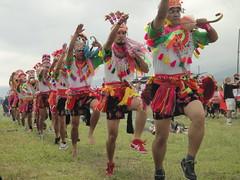 都蘭部落青年為SRA而跳,宣誓守護傳統領域的決心