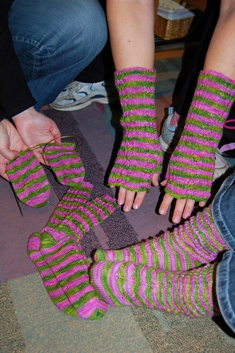 Some finished sock club projects