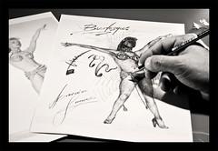 B U R L E S Q U E (DISAMISTADE_my life is a reportage!) Tags: blackandwhite burlesque disegno biancoenero disegnare todraw