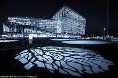 Harpa Concert Hall and Conference Center - Reykjavk Iceland (skarpi - www.skarpi.is) Tags: city blue light music house building art architecture night island design iceland concert construction scenery artist cityscape arty harbour postcard capital center reykjavik reykjavk sland harpa arkitekt pstkort