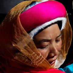 Close up portrait of a tibetan lady (Sophie et Fred) Tags: china portrait people lady shangrila tibetan kham yunnan zhongdian