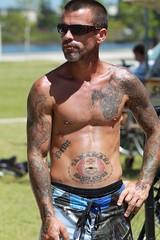 2011-11-27 Tripink Sunshine Coast 2444 (spyjournal) Tags: tattoo running athletes triathlon sunshinecoast tripink