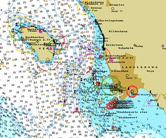 Chart over Landskrona surroundings