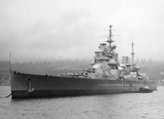 HMS Anson (Image Ref: warship1375) (ww2images) Tags: battleship anson warship 1952 royalnavy hmsanson waratsea navyphoto britishships warshipimages warshipimagescom warshipphotos