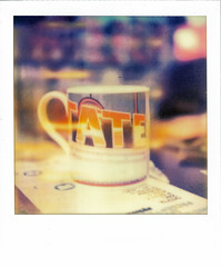 What is art? (Ben Wolfarth) Tags: street old blue red blur color colour slr art film vintage wow project table real polaroid sx70 photography one 1 lomo lomography model triangle gallery dof tea bokeh tate vibrant magic lofi dream first retro tip shade saturation mug instant punch analogue flush lovely 70 ff bohemian pola folding oxfam bold 680 heated impossible sx origional px leflet altj px680
