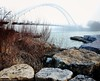 humber bridge vertorama (Rex Montalban Photography) Tags: bridge toronto fog nikon stitched hdr humberbridge humber photomatix vertorama d7000 rexmontalbanphotography pse9
