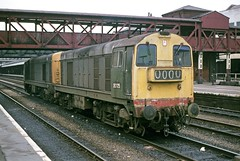 20175 & 20068 Nottingham 29Oct77 (david.hayes77) Tags: nottingham green 20068 20175 class20
