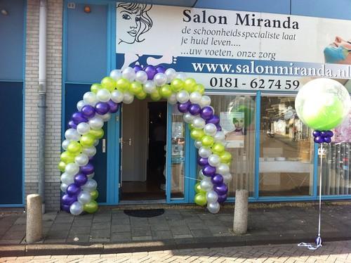 Ballonboog 6m 25 Jarig Jubileum Salon Miranda