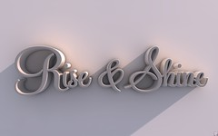 Rise & Shine (Blacvamp) Tags: inspiration typography 3d text daily effect leena parvin blacvamp