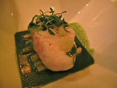 Stamed cod (Premshree Pillai) Tags: birthday nyc newyorkcity food ny newyork dinner restaurant cod michelin jeangeorges jeangorges