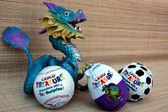 Dragon Eggs!  1/4 (John 3000) Tags: monster toy dragon treasure chocolate egg capsule kinder surprise beast choco huevo juguete dragón sorpresa hatching hatchling