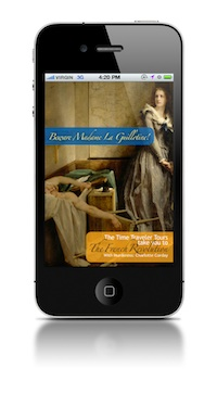 BMLG title screen on iphone - web  for My French Life interview