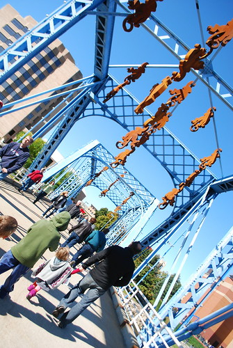Monkeys on the bridge! Artprize