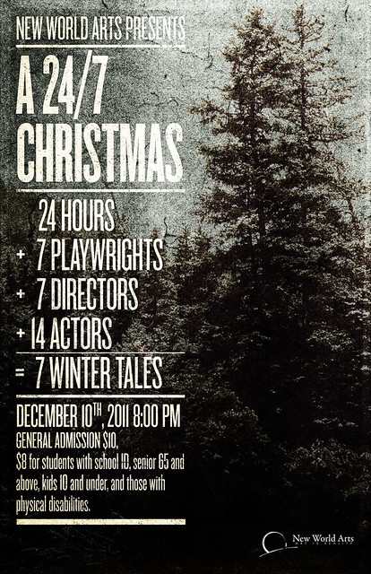 SAoS - New World Arts' A 24/7 Christmas Festival poster