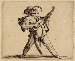 Jacques Callot. Punchinello Figure. French 1616. etch. 6.4 x 7.8 cm. Met. Mus. (tony harrison) Tags: music musicians medieval prints leisure manuscript middleages pleasure etchings illuminatedmanuscripts