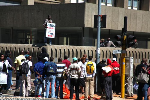 Protest in support of Julius Malema