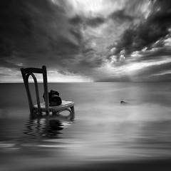 (windrides) Tags: camera seascape clouds chair nikon d3x