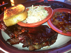 Oscoda Family Vacation 2011 September 24, 201127 (stevendepolo) Tags: food restaurant michigan bbq steak barbecue ribs bb meatloaf coleslaw combo alpena texastoast porkandbeans