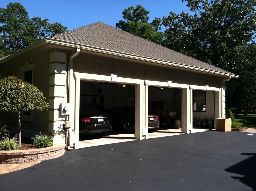 3 car garage with in floor radiant heat