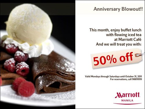 Marriott Hotel's Marriott Cafe Buffet Lunch Promo