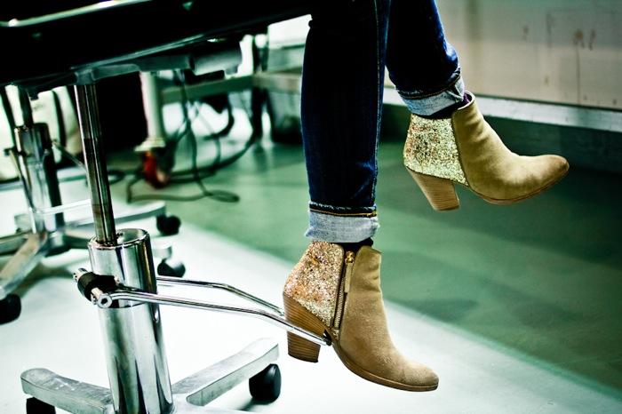 CO-OP glitter boots