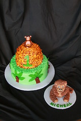 "Monkey sitting on mound of Bananas with Smash cake • <a style=""font-size:0.8em;"" href=""http://www.flickr.com/photos/60584691@N02/6247499557/"" target=""_blank"">View on Flickr</a>"
