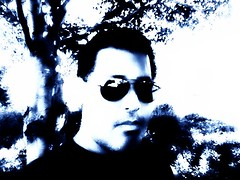 Nature Blue (Blue Rave) Tags: trees garden nature dude people bloke mate men guy male sad melancholy abandoned alone despair empty me self loneliness moody sunglasses solitude lost ego thecolorblue myself selfie selfportrait portrait closeup blue iphonephotography iphoneography color colour face