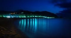Nit marina (Lluis i Vinyet) Tags: barcelona light sea luz water night noche mar agua nikon mediterranean playa catalonia nocturna catalunya aigua cataluña nit reflejos platja llum tossademar reflexes nocturn mediterrani mediterrneo d7000 blinkagain