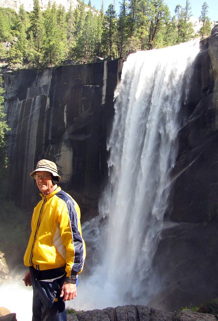 Karen's Dad at Vernal Falls