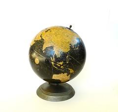 Weber Costello Terrestrial Globe (lilyrose1963) Tags: black vintage 1930s antique 10inch terrestrialglobe webercostello