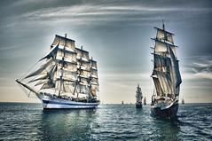 Sail Away (Vinnie O'Brien) Tags: old ireland sea sky sport boats coast nikon sailing ships sail waterford d90 blinkagain bestofblinkwinners